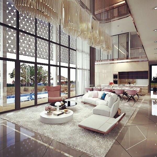Choáng ngợp với không gian sang chảnh trong biệt thự 2 triệu đô vừa xây của Ngọc Trinh-2