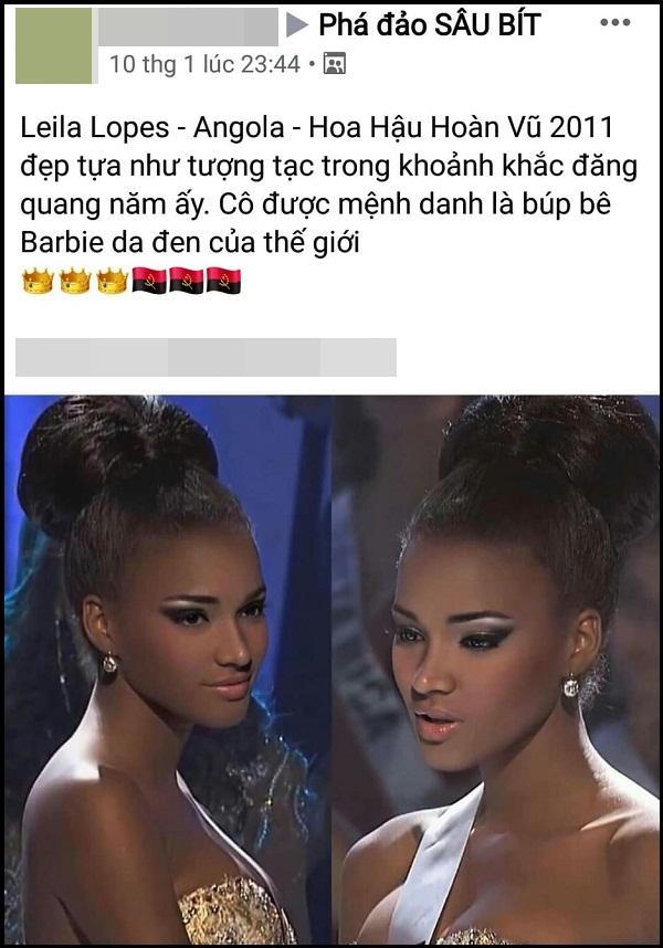 Hoa hậu Hoàn vũ đang gây sốt mạng Việt: Đẹp như tiên vẫn bị miệt thị con khỉ mặc váy-5