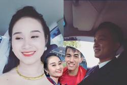 Bạn gái cũ của Tiến Linh vui vẻ livestream khoe khoảnh khắc lên xe hoa về nhà chồng
