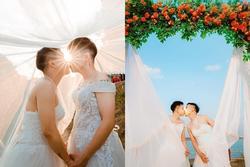 Mặc váy cưới rồi ôm hôn nhau say đắm, hai chàng trai sáng nhất mạng xã hội hôm nay