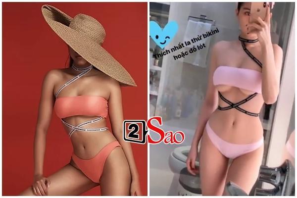 Sắm Tết kiểu Ngọc Trinh: hết khoe thử nội y lại đến bikini không che nổi vòng 1-1