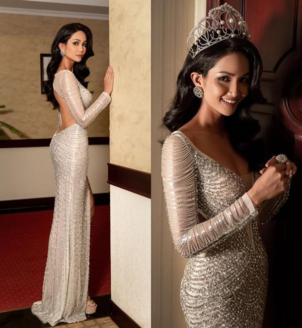 Mặc lại chiếc váy định mệnh trên đấu trường quốc tế, mỹ nhân Việt nào đạt phong độ đỉnh cao?-10