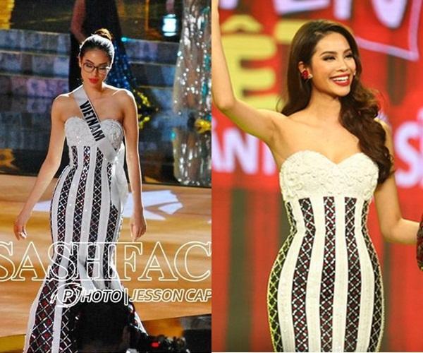 Mặc lại chiếc váy định mệnh trên đấu trường quốc tế, mỹ nhân Việt nào đạt phong độ đỉnh cao?-17