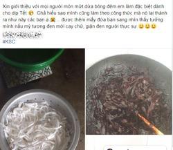 'Giận đen người' sau khi nhìn món mứt dừa tự tay chế biến để ăn Tết