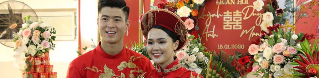 Đám cưới Đỗ Duy Mạnh và bạn gái Quỳnh Anh