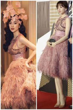 Lần đầu Hari Won 'đụng hàng' Angela Phương Trinh: Cả hai cùng mất điểm vì lộ mút ngực