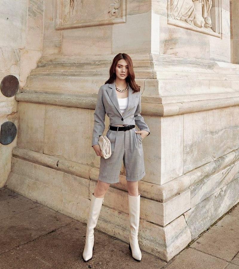 Hòa Minzy tự tin diện đầm bodycon ngắn cũn - Thúy Vi bắt nhịp xu hướng với váy tím pastel-4