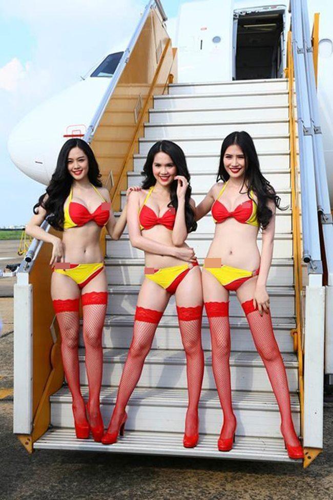 Người đẹp mặc bikini đi bay: Độc chiêu hút khách của các hãng hàng không-10