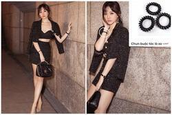 Diện toàn đồ Chanel sang chảnh, Hari Won bị chồng trách vì một phụ kiện 4.000 đồng