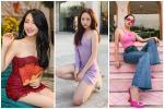 Hòa Minzy tự tin diện đầm bodycon ngắn cũn - Thúy Vi bắt nhịp xu hướng với váy tím pastel