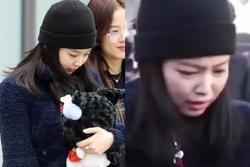 Jennie (BlackPink) bật khóc ở sân bay