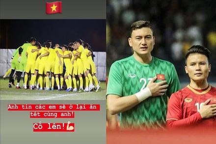 Đặng Văn Lâm gửi lời chúc ý nghĩa đến đàn em U23 Việt Nam trong trận gặp Triều Tiên