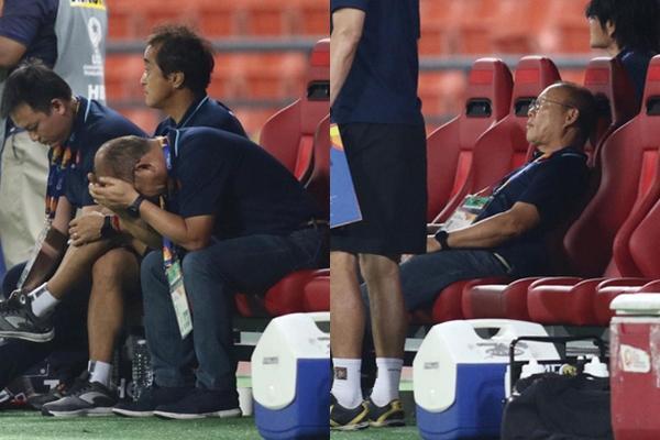 Phản ứng của thầy Park sau khi Bùi Tiến Dũng biếu không đối thủ bàn thắng-1