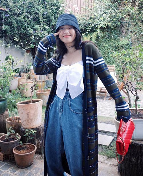 Jun Vũ, Thảo Tâm mặc áo nhái Jennie-4