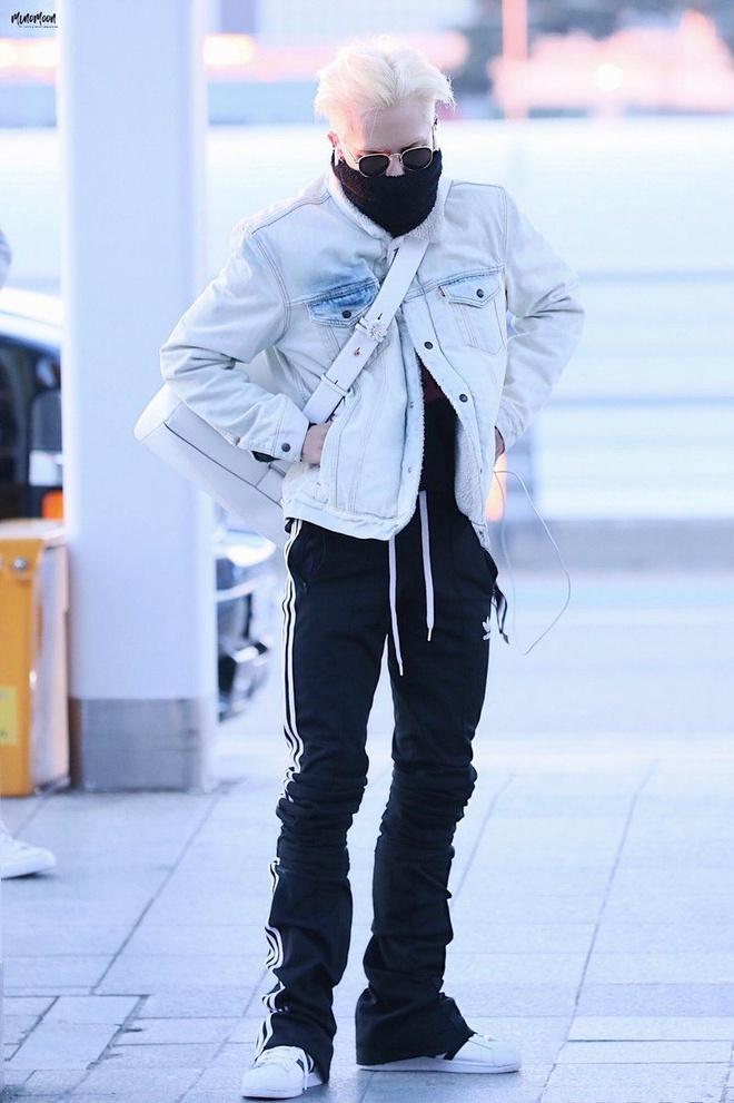 Mino (WINNER) mặc đồ hoa lá theo phong cách người già ra sân bay-5