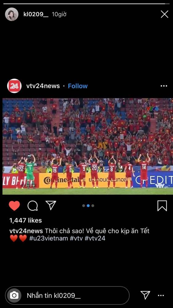 Bạn gái tin đồn Bùi Tiến Dũng an ủi U23, nhắn đội về quê kịp ăn Tết-1