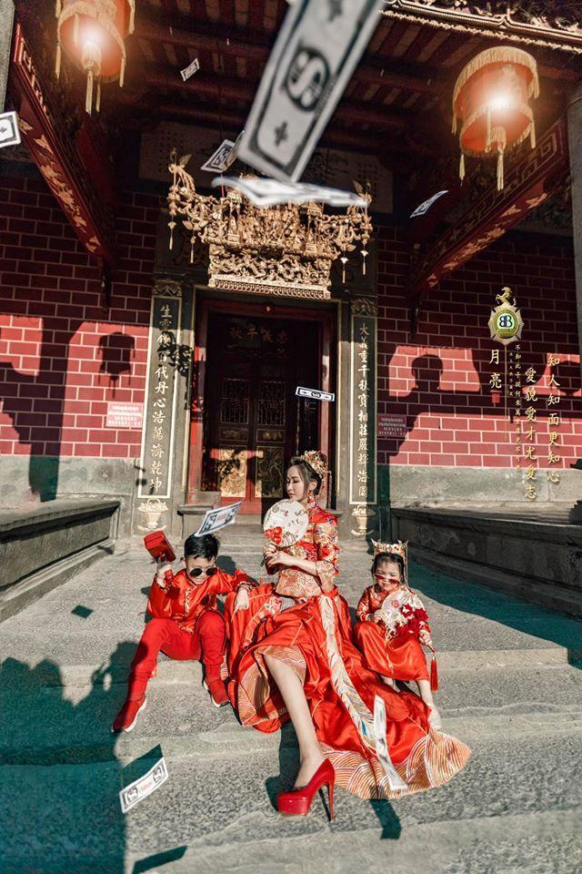 Vợ hai Minh Nhựa chơi lớn với bộ ảnh phong cách Trung Hoa đón Tết-4