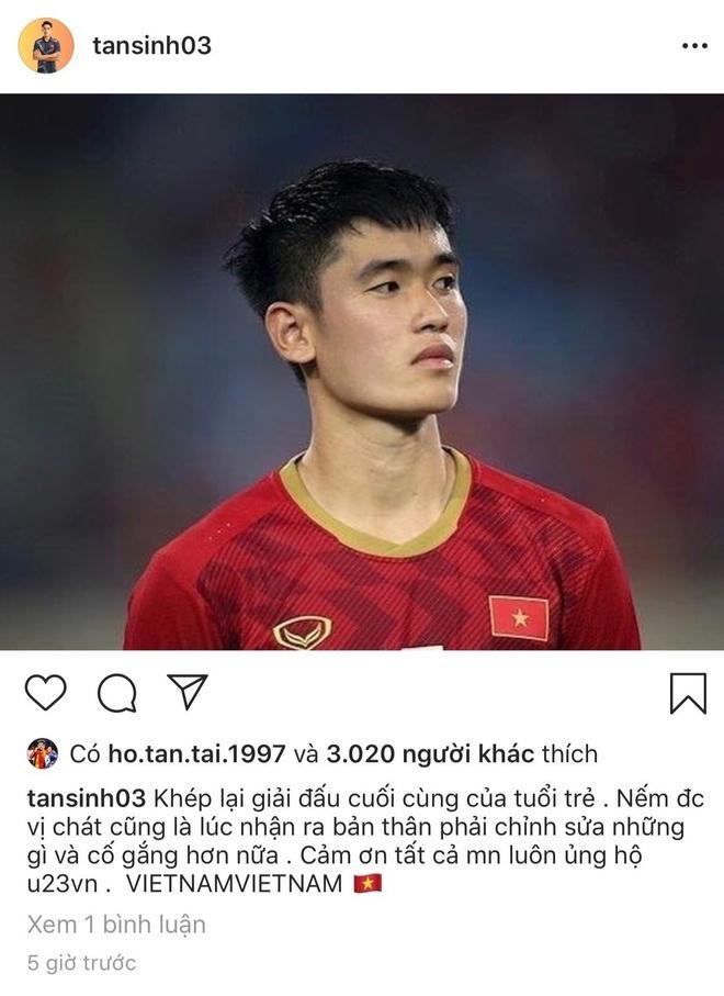 Huỳnh Tấn Sinh nếm được vị chát sau trận thua U23 Triều Tiên-1