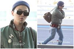 G-Dragon ăn mặc khó hiểu, đeo túi Chanel nữ tính ra sân bay