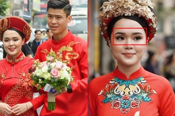 Sau gương mặt sai sai trong lễ ăn hỏi, vợ Đỗ Duy Mạnh nói gì khi bị cho là có thù với make-up?-1