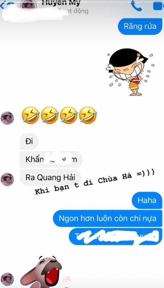 Cô chủ tiệm nail công khai nhắc tên Quang Hải trong tin nhắn đi chùa cầu tình duyên-2