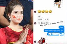 Cô chủ tiệm nail công khai nhắc tên Quang Hải trong tin nhắn đi chùa cầu tình duyên