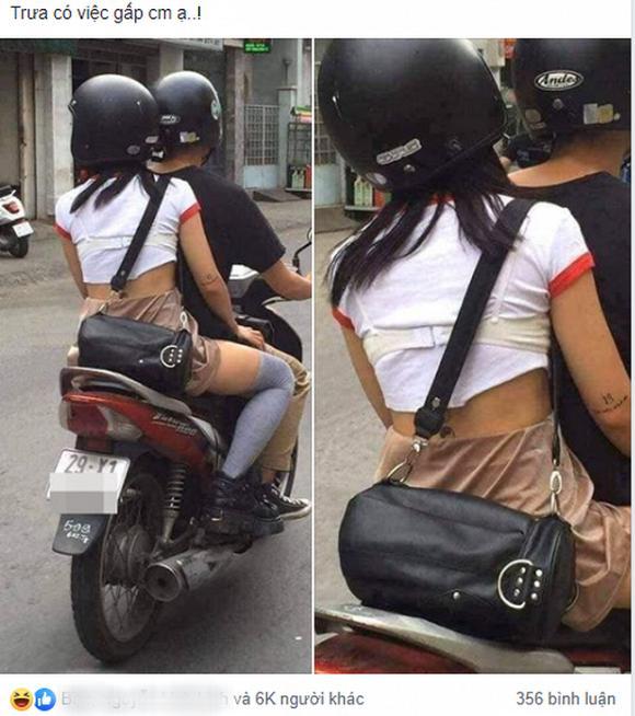 Mặc áo lót ra ngoài rồi vô tư đi xe máy dạo phố Hà Nội, cô gái làm bao người ngán ngẩm-1