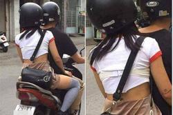 Mặc áo lót ra ngoài rồi vô tư đi xe máy dạo phố Hà Nội, cô gái làm bao người ngán ngẩm