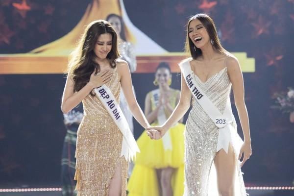 Tái hiện màn nắm tay trao giải, Hoa hậu Khánh Vân - Á hậu Kim Duyên tốc váy choảng nhau-10