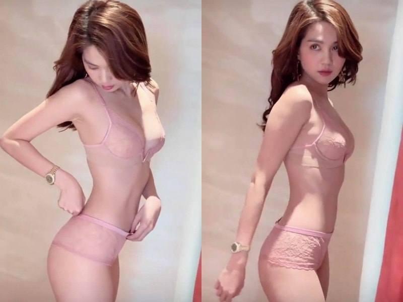 Ai cũng sắm Tết váy áo lộng lẫy, Ngọc Trinh hết mua đồ lót đến bikini che không nổi ngực-2