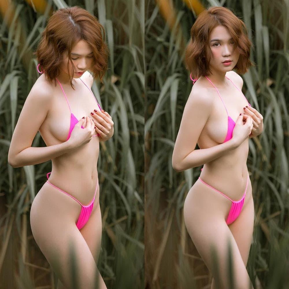 Ai cũng sắm Tết váy áo lộng lẫy, Ngọc Trinh hết mua đồ lót đến bikini che không nổi ngực-9