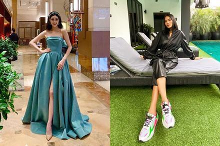 Bản tin Hoa hậu Hoàn vũ 18/1: Hoàng Thùy - Khánh Vân nghịch phong cách nhưng cùng lấy điểm tối đa