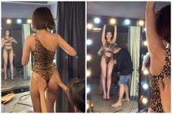 Hậu trường chụp ảnh áo tắm khoe chân ngực siêu cấp nóng bỏng của Ngọc Trinh