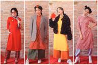 Châu Bùi và 5 ý tưởng phối đồ với áo dài cực dị: áo lông, giày móng ngựa, vest của bố hay sneaker đều cân tất!