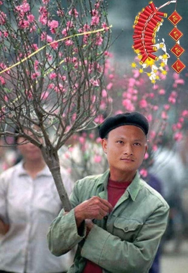 Cười sặc ảnh chế Quang Hải về quê bán đào kiếm bánh chưng có thịt, thầy Park tay xách nách mang sắm tết-4