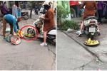 Cô gái điêu đứng, bị dân mạng chửi bới dữ dội vì hiểu nhầm là người phụ nữ chạy xe máy cán nát nia trái cây của người bán hàng rong-5