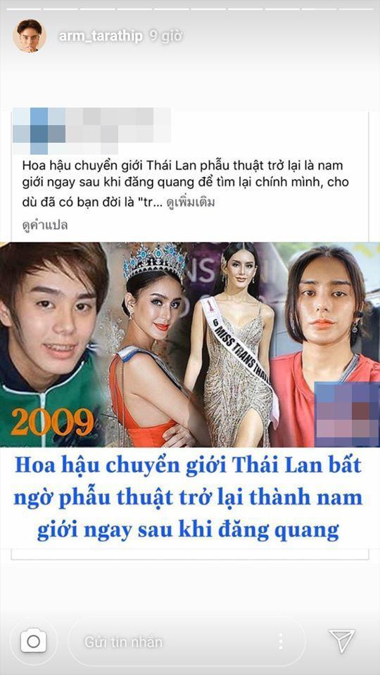 Sau màn quay lại làm đàn ông gây sốc, Hoa hậu chuyển giới Thái Lan gửi lời cảm ơn fan Việt trên Instagram-2