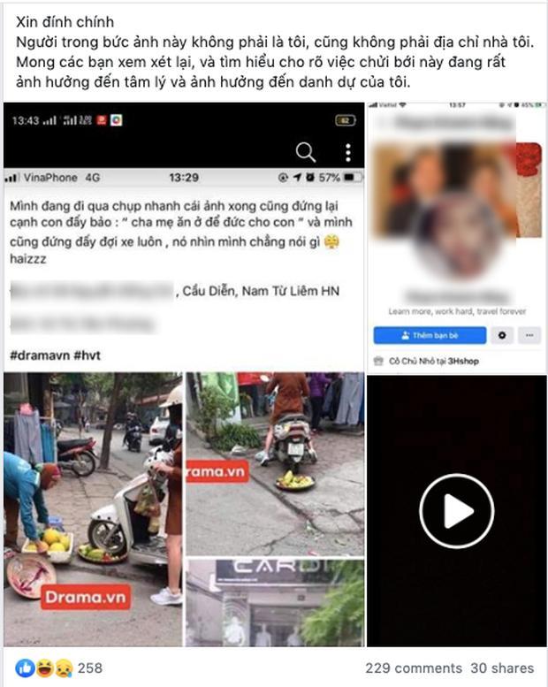 Cô gái điêu đứng, bị dân mạng chửi bới dữ dội vì hiểu nhầm là người phụ nữ chạy xe máy cán nát nia trái cây của người bán hàng rong-2