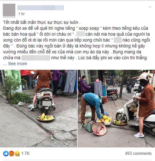 Cô gái điêu đứng, bị dân mạng chửi bới dữ dội vì hiểu nhầm là người phụ nữ chạy xe máy cán nát nia trái cây của người bán hàng rong-1