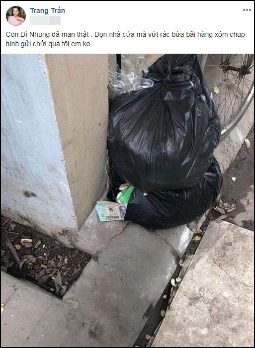 Dọn nhà đón Tết giúp Trang Trần, người thân tiện tay vứt luôn xấp tiền dày cộp-1