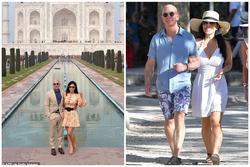 Bạn gái tỷ phú Amazon bị chỉ trích vì mặc váy ngắn tới lăng Taj Mahal