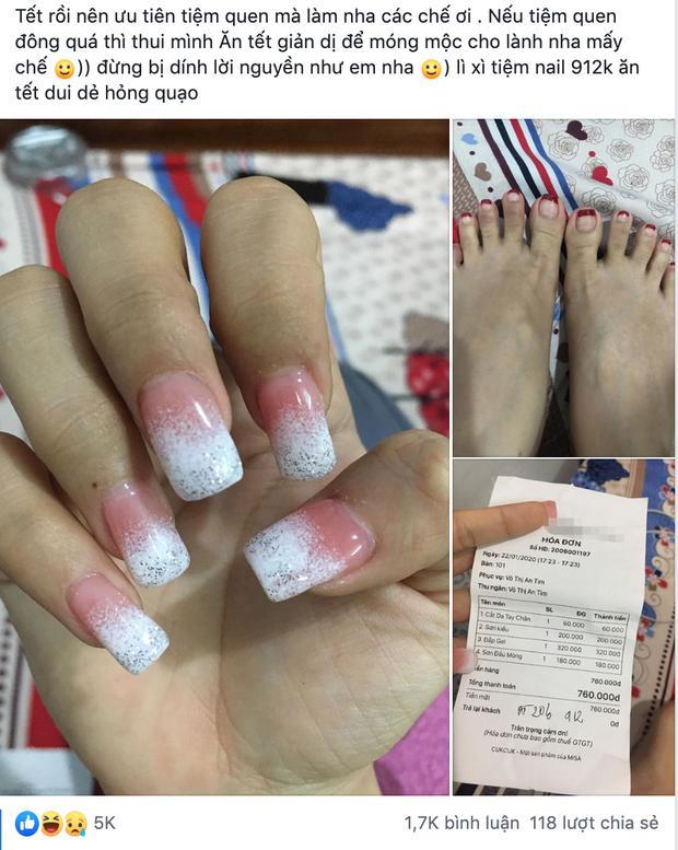 Cô gái quạo vì làm bộ nail ăn Tết hết gần cả triệu còn bị chê xấu, dân tình chia phe tranh cãi đáng hay không đáng?-1