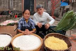 Bà Tân Vlog lại làm bánh chưng 'siêu to khổng lồ', choáng với số cân nặng
