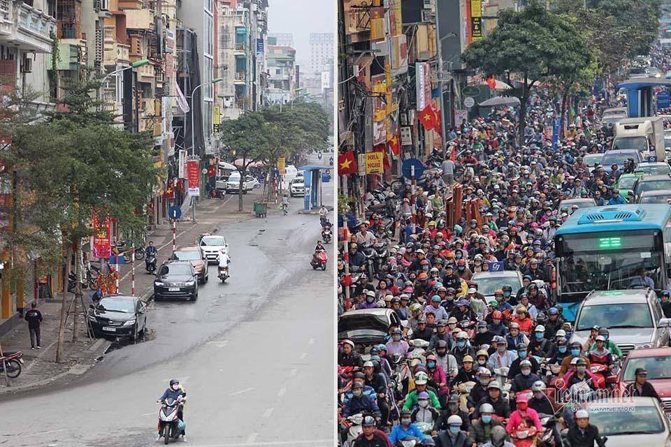 Kỳ diệu Hà Nội sáng mùng 1 Tết, đường phố bỗng thênh thang-1