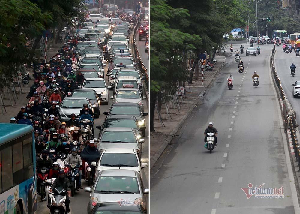 Kỳ diệu Hà Nội sáng mùng 1 Tết, đường phố bỗng thênh thang-6