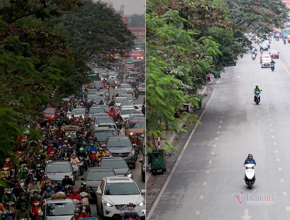 Kỳ diệu Hà Nội sáng mùng 1 Tết, đường phố bỗng thênh thang-7