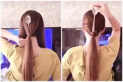 Mẹo tự tết tóc với một chiếc thìa