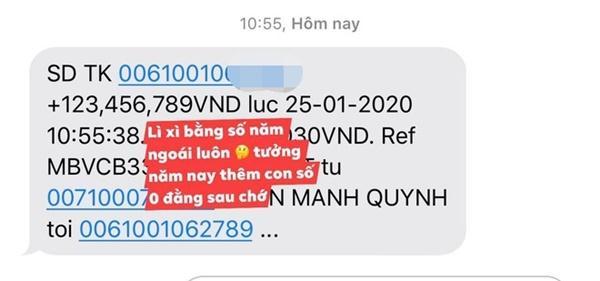Phan Mạnh Quỳnh lì xì bạn gái hơn 123 triệu đồng-2