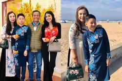 Bảo Nam nhà Jennifer Phạm ăn Tết cùng ông bà ngoại