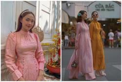 'Đụng hàng' hi hữu đầu năm: Minh Hằng - Yến Trang mặc chung áo dài 'mười phân vẹn mười'